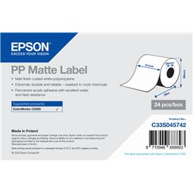 Waterproof PP Matte Labels for Epson ColorWorks