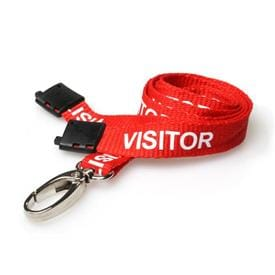 Pre-Printed Lanyards - for Displaying ID Cards, and Visitor Passes or attaching other items